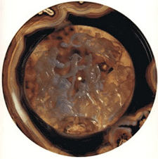 agate carved plate